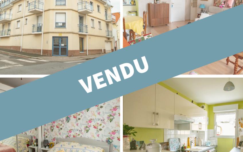 VENDU Viager occupé – T3 de 66,46 m2 avec parking et cave à Berck (62600)