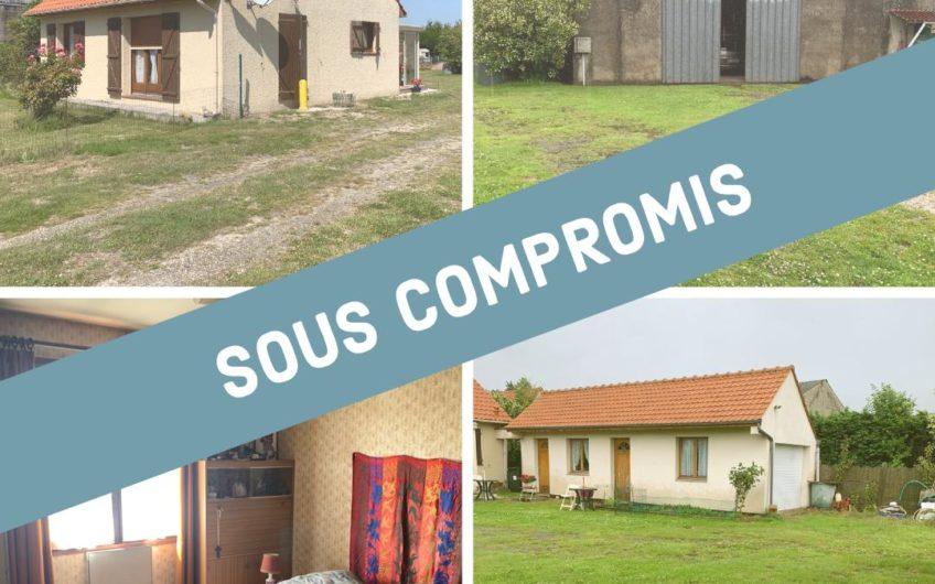 SOUS COMPROMIS – Viager occupé – Ensemble immobilier à Merlimont composé d'une maison avec extension et d'un hangar de 320m2
